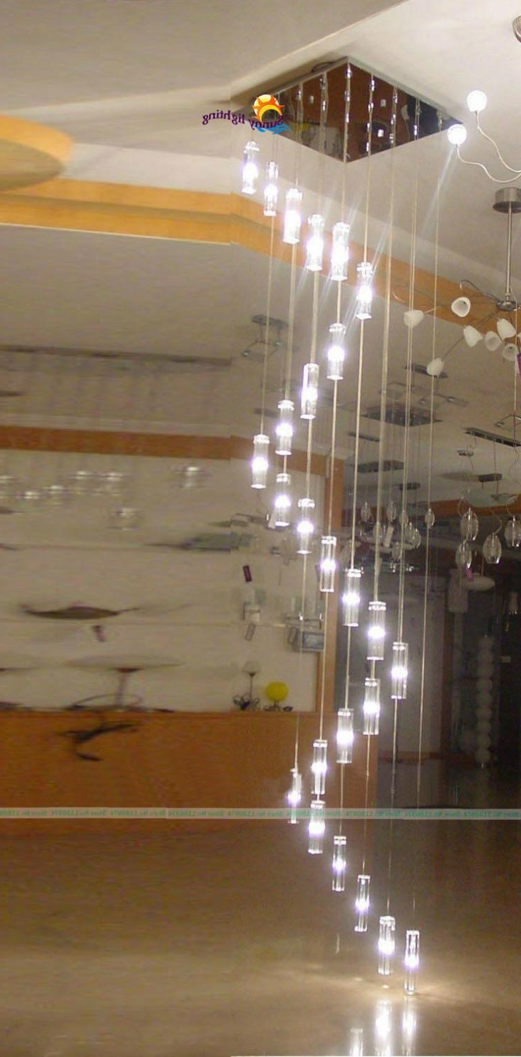Trendy Stairway Chandeliers Pertaining To 30 Llights Large Stairway Chandelier Big Staircase Crystal (View 14 of 15)