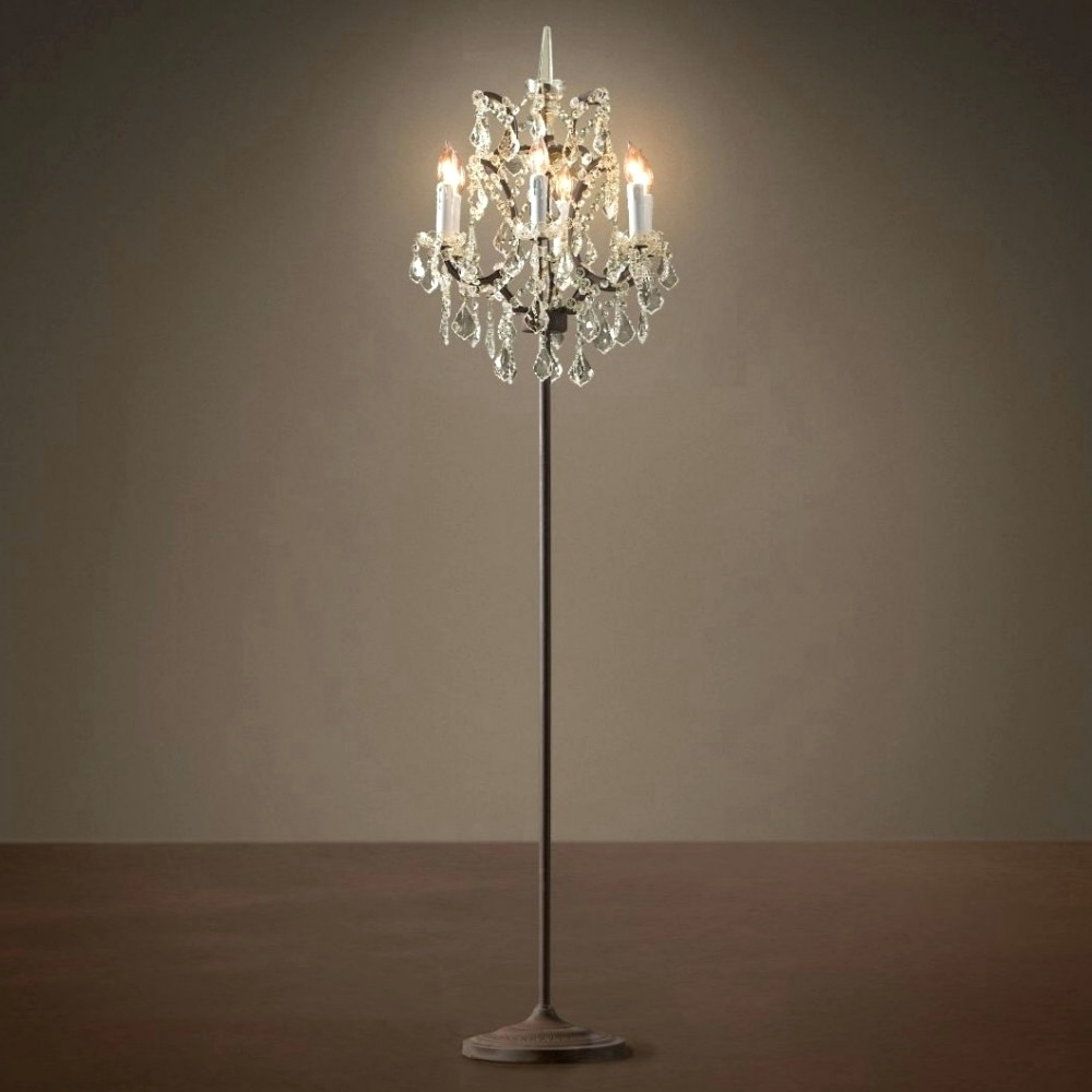 Trendy Standing Chandeliers Pertaining To Chandeliers ~ Standing Chandelier Floor Lamp Standing Chandelier (View 7 of 15)