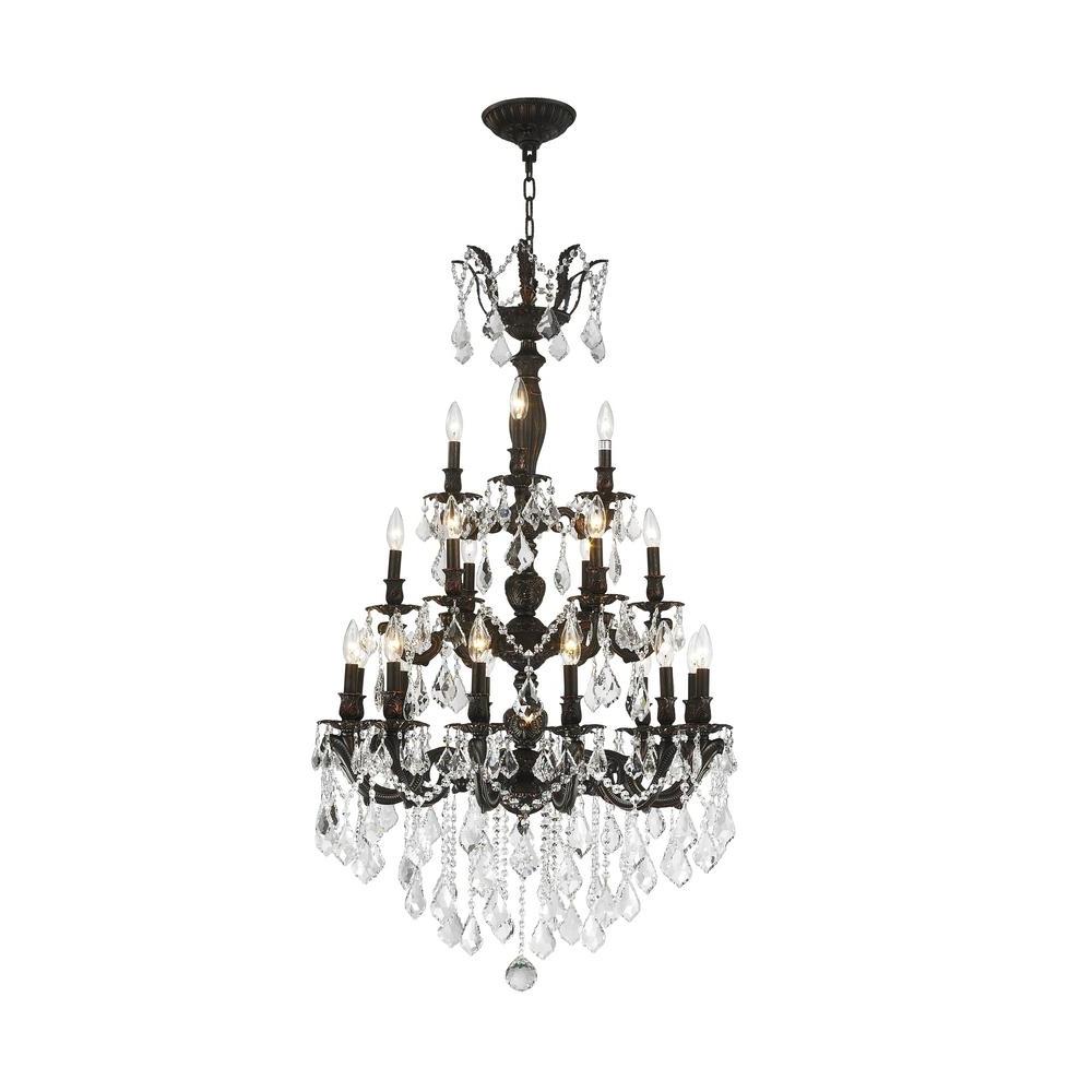 Trendy Worldwide Lighting Versailles 21 Light Flemish Brass Chandelier With In Flemish Brass Chandeliers (View 3 of 15)