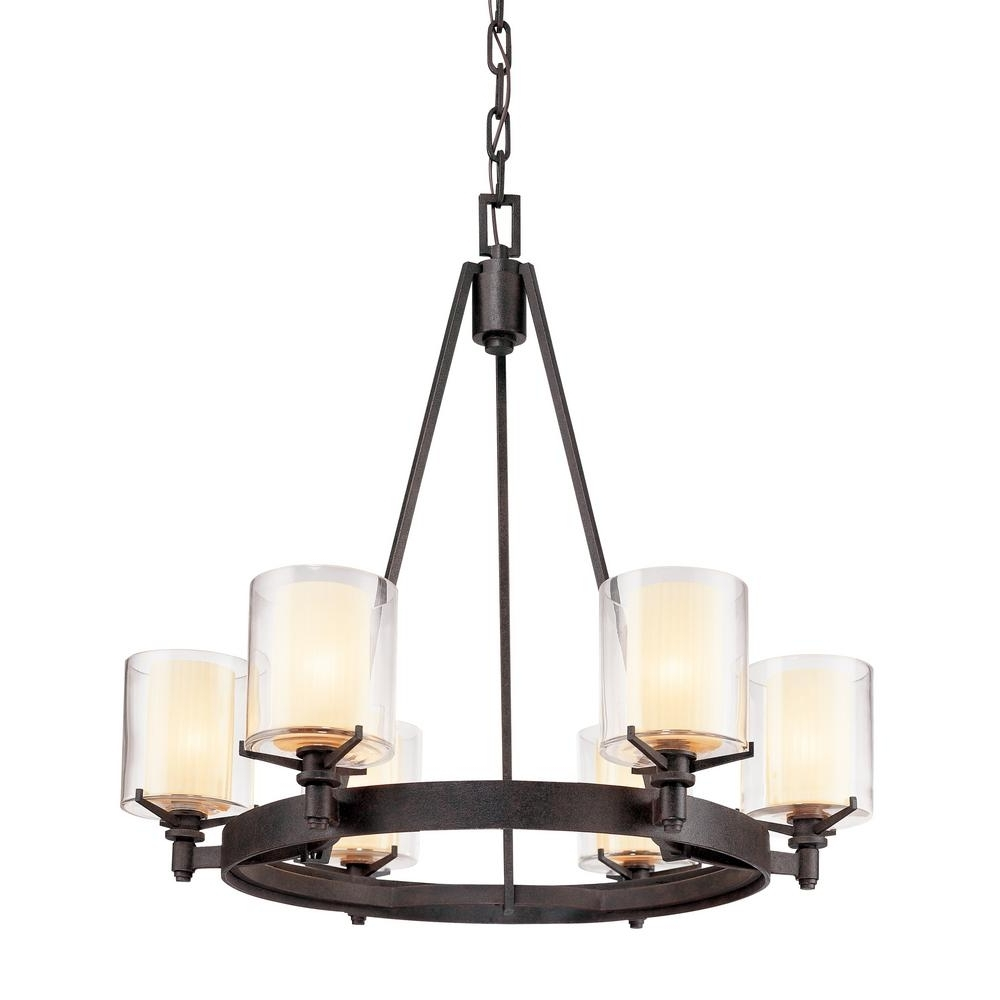 Troy Lighting Arcadia 6 Light French Iron Chandelier With Clear Pertaining To 2017 Iron Chandelier (View 13 of 15)