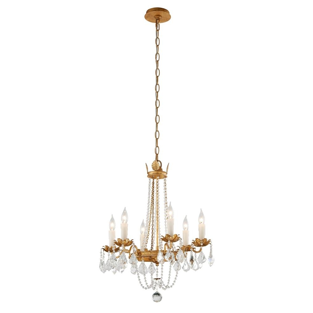 Troy Lighting Viola 5 Light Distressed Gold Leaf Chandelier F5365 In Most Recently Released Gold Leaf Chandelier (View 13 of 15)