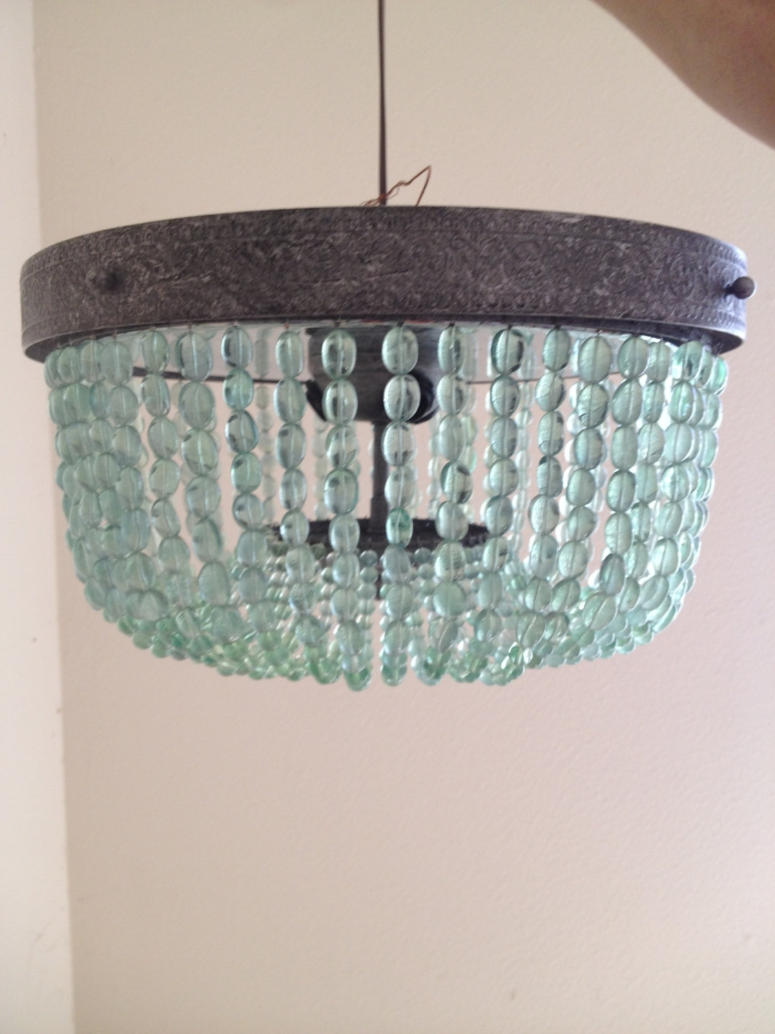Turquoise Beaded Chandelier Light Fixtures With Popular Aqua (Light Turquoise, Green) Vintage Style Beaded Chandelier (View 3 of 15)
