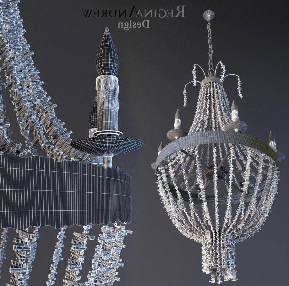 Turquoise Beads Six Light Chandeliers In Current Turquoise Beads Six Light Chandelier 3D Model – Cgstudio (View 6 of 15)