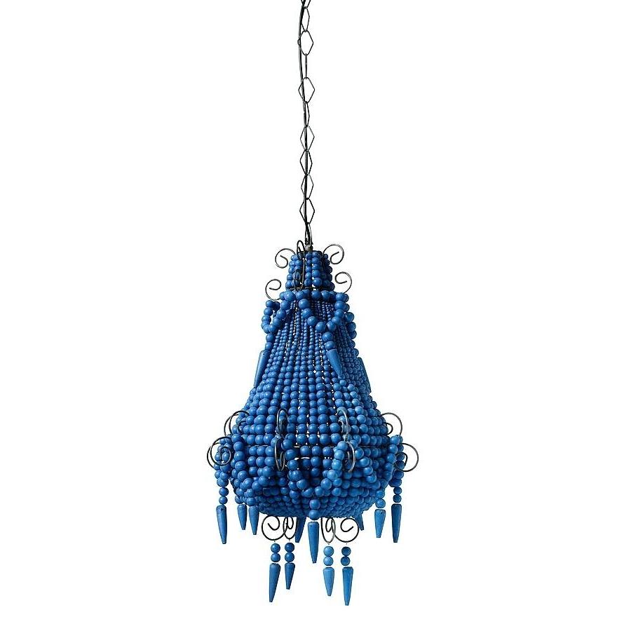 Turquoise Beads Six Light Chandeliers Regarding Latest Chandeliers ~ Blue Beaded Chandelier Turquoise Beads Six Light (View 15 of 15)
