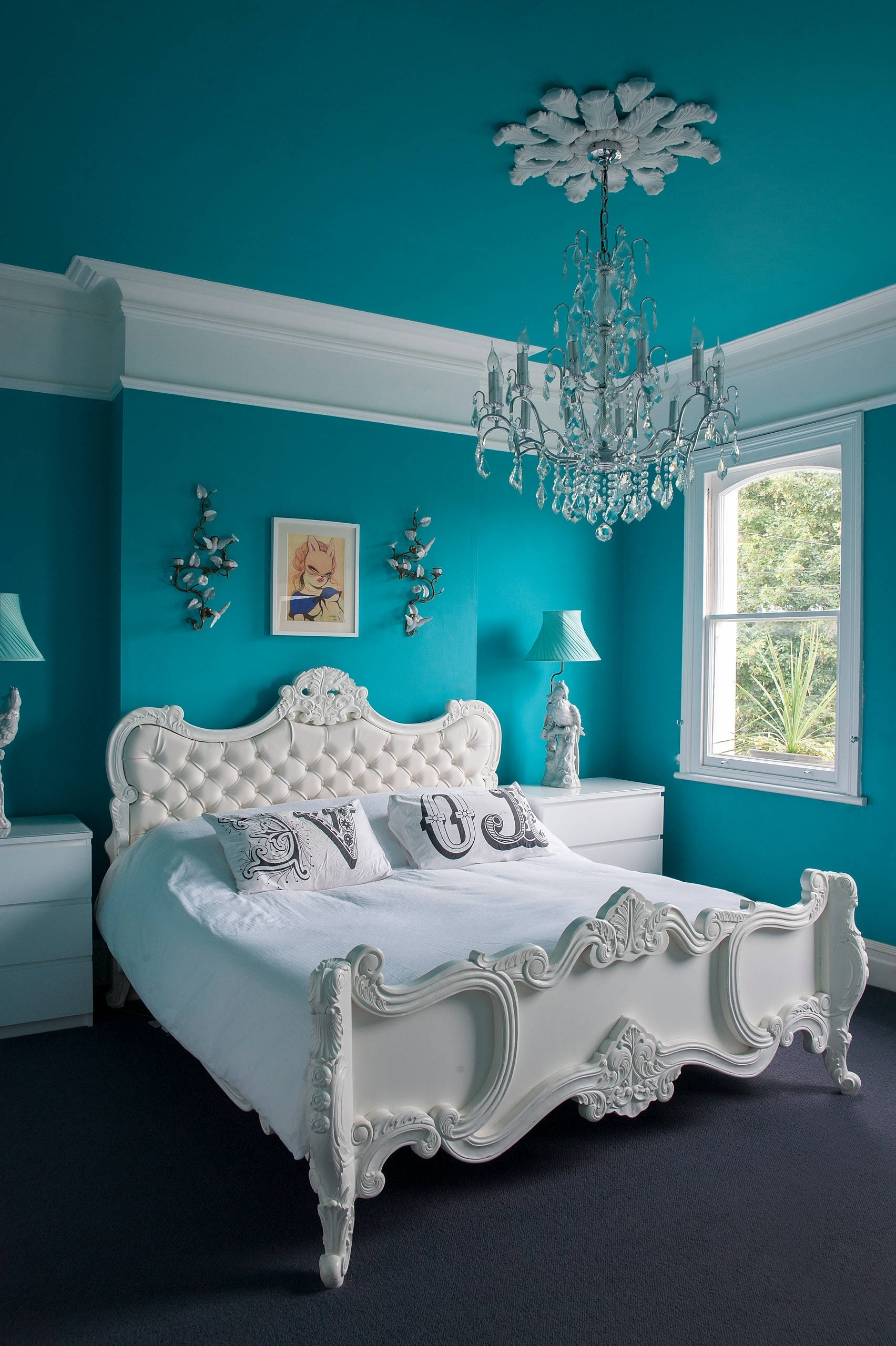 Turquoise Bedroom Chandeliers Intended For Most Recently Released Bedroom: Turquoise Room Ideas For Modern Bedroom Design Idea (View 5 of 15)