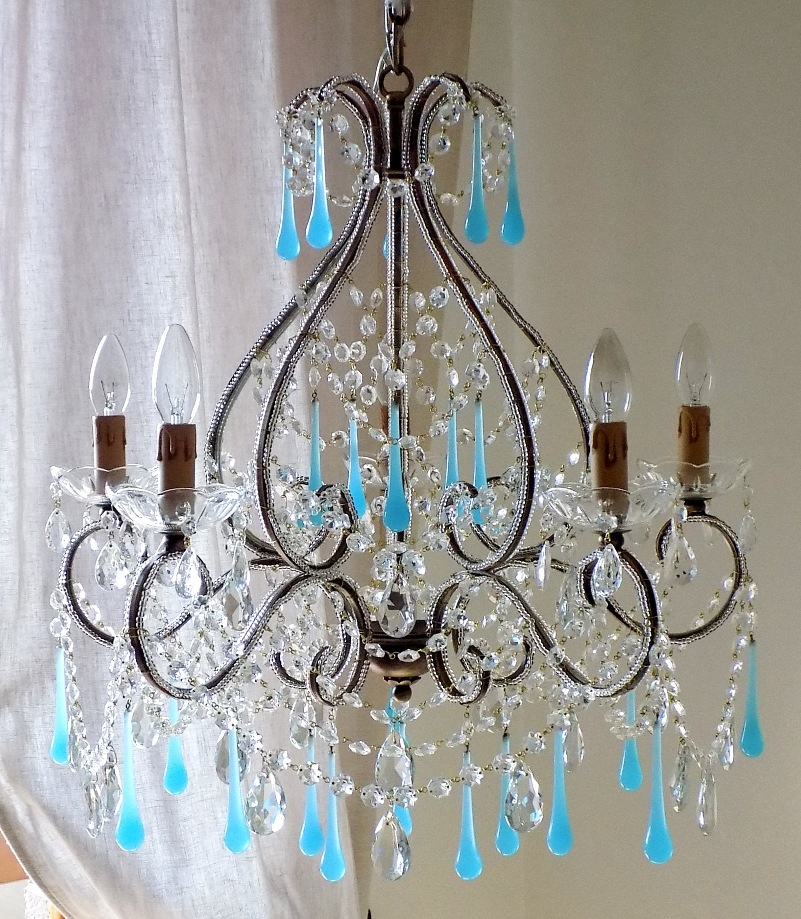 Featured Photo of Turquoise Birdcage Chandeliers