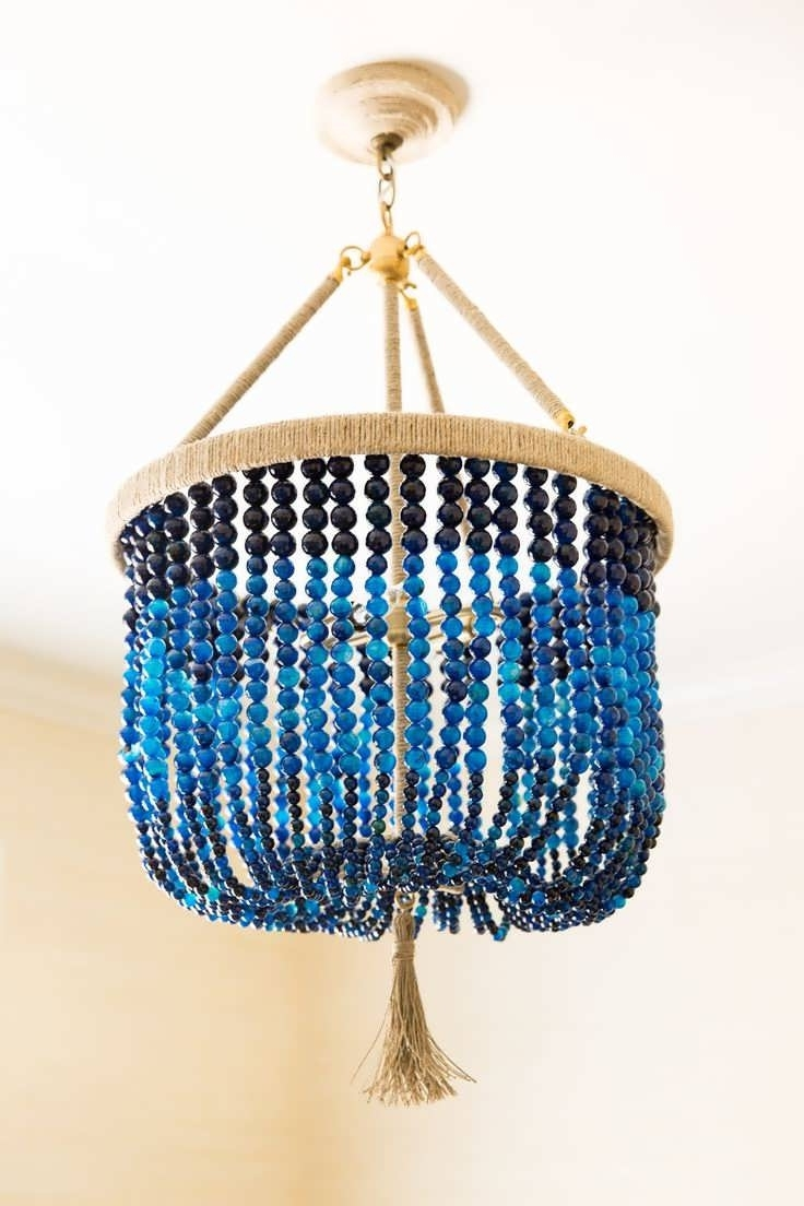 Turquoise Blue Beaded Chandeliers Pertaining To Current Chandelier : Inexpensive Chandeliers Blue Chandelier Turquoise Blue (View 14 of 15)