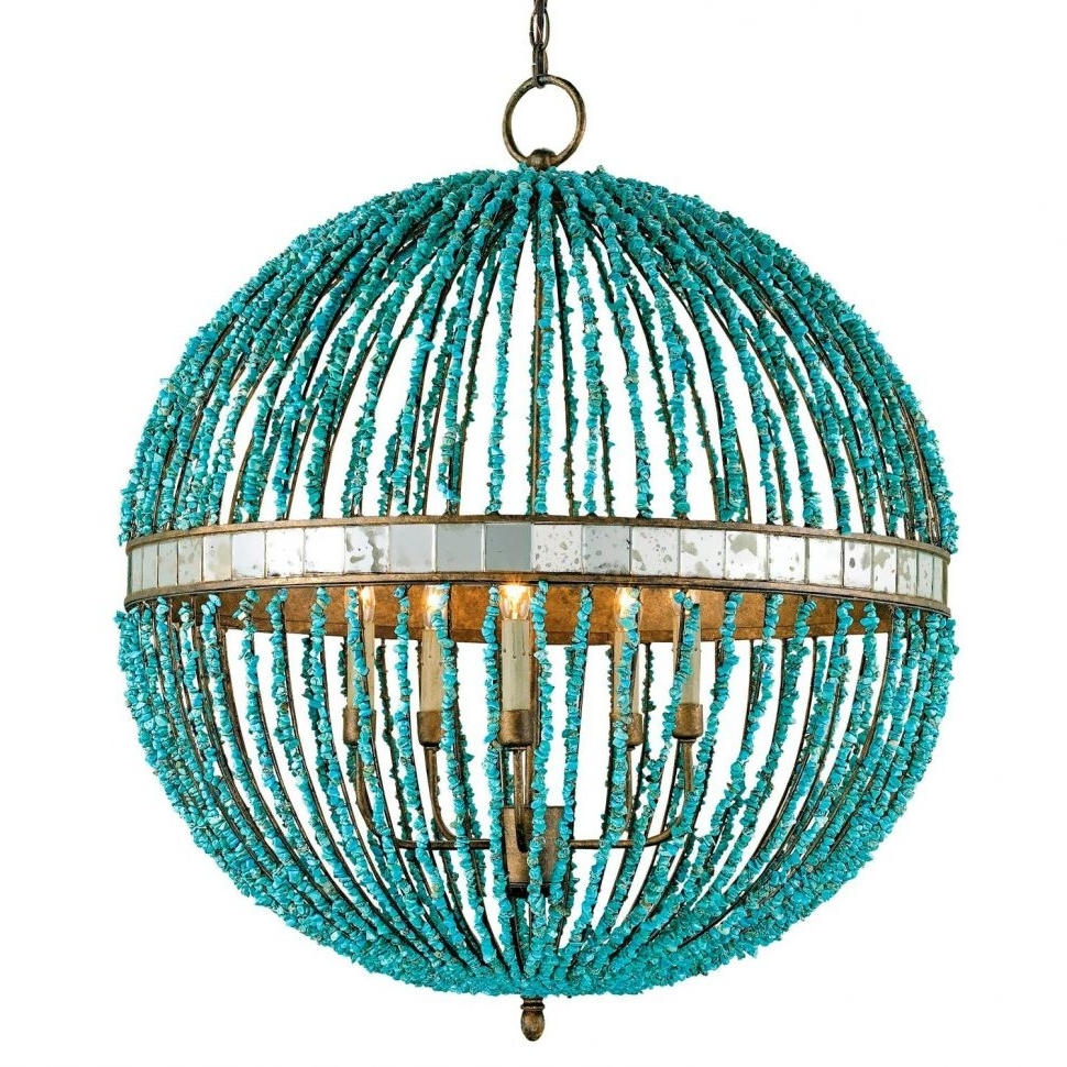 Turquoise Blue Chandeliers Pertaining To Current Chandeliers Design : Fabulous Make Chandelier Turquoise Blue Multi (View 15 of 15)