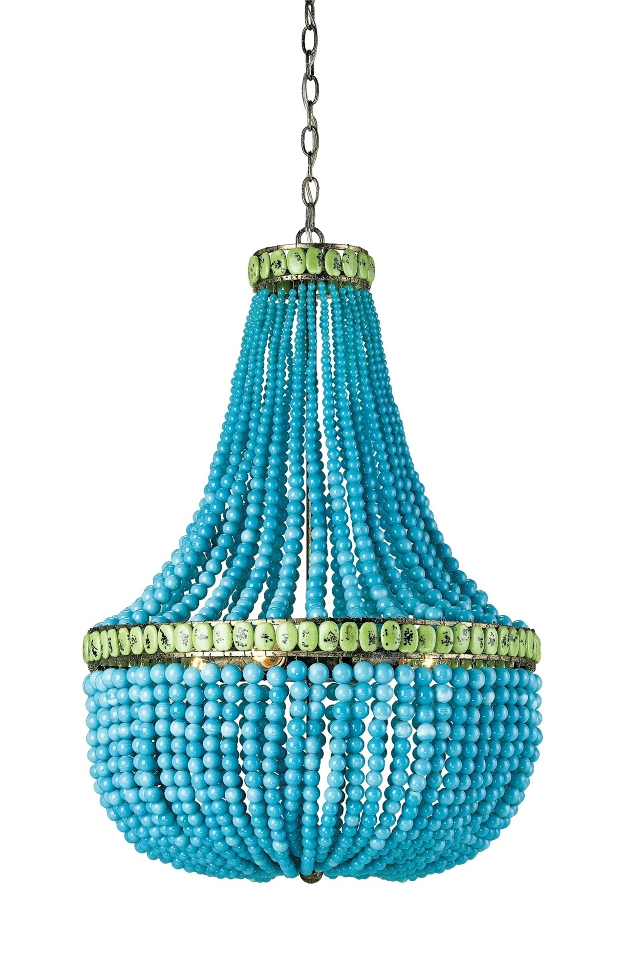Turquoise Blue Chandeliers Throughout 2017 Hedy Chandelier Lighting (View 11 of 15)