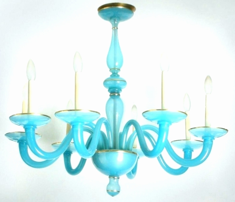 Turquoise Blue Glass Chandelier – Chandelier Designs Intended For Recent Turquoise Blue Glass Chandeliers (View 11 of 15)