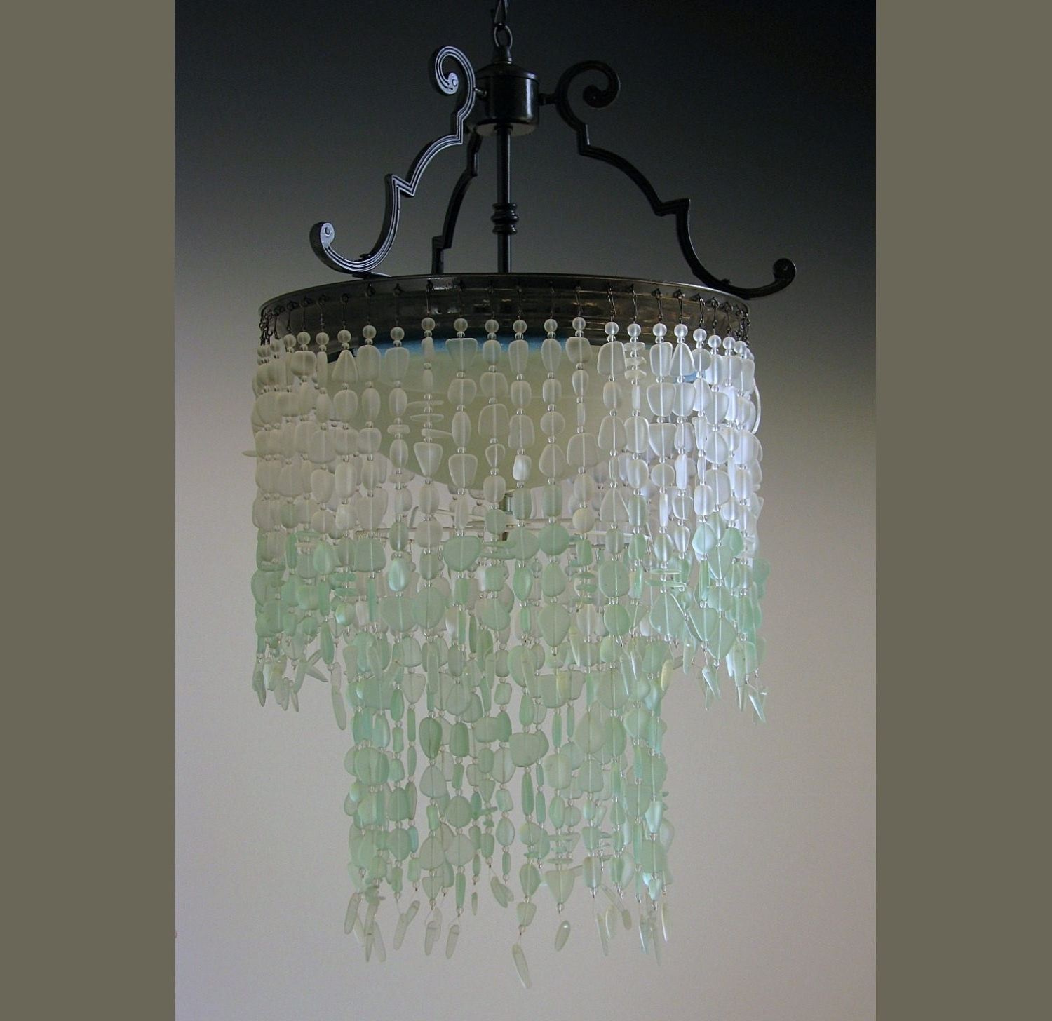 Turquoise Blue Glass Chandeliers In Popular Chandeliers : Sea Glass Chandelier Awesome Chandelier Turquoise Blue (View 12 of 15)