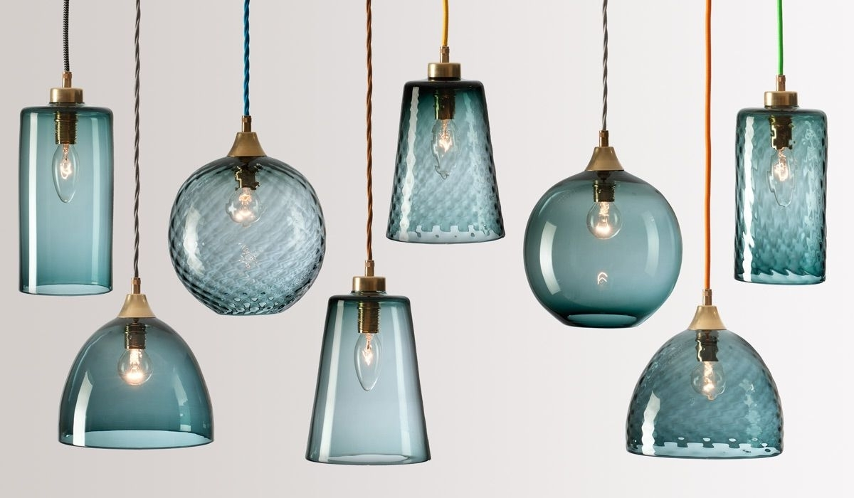 Turquoise Blue Glass Chandeliers Inside Trendy Flodeau – Handblown Glass Lightingrothschild Bickers  (View 13 of 15)