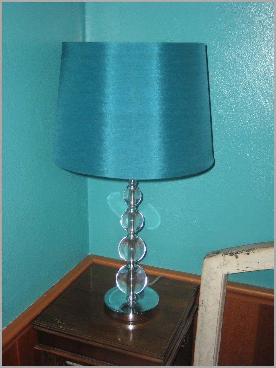 Turquoise Chandelier Lamp Shades Throughout 2018 Lighting : Delectable Turquoise Table Lamp Shades Chandelier Bedside (View 2 of 15)