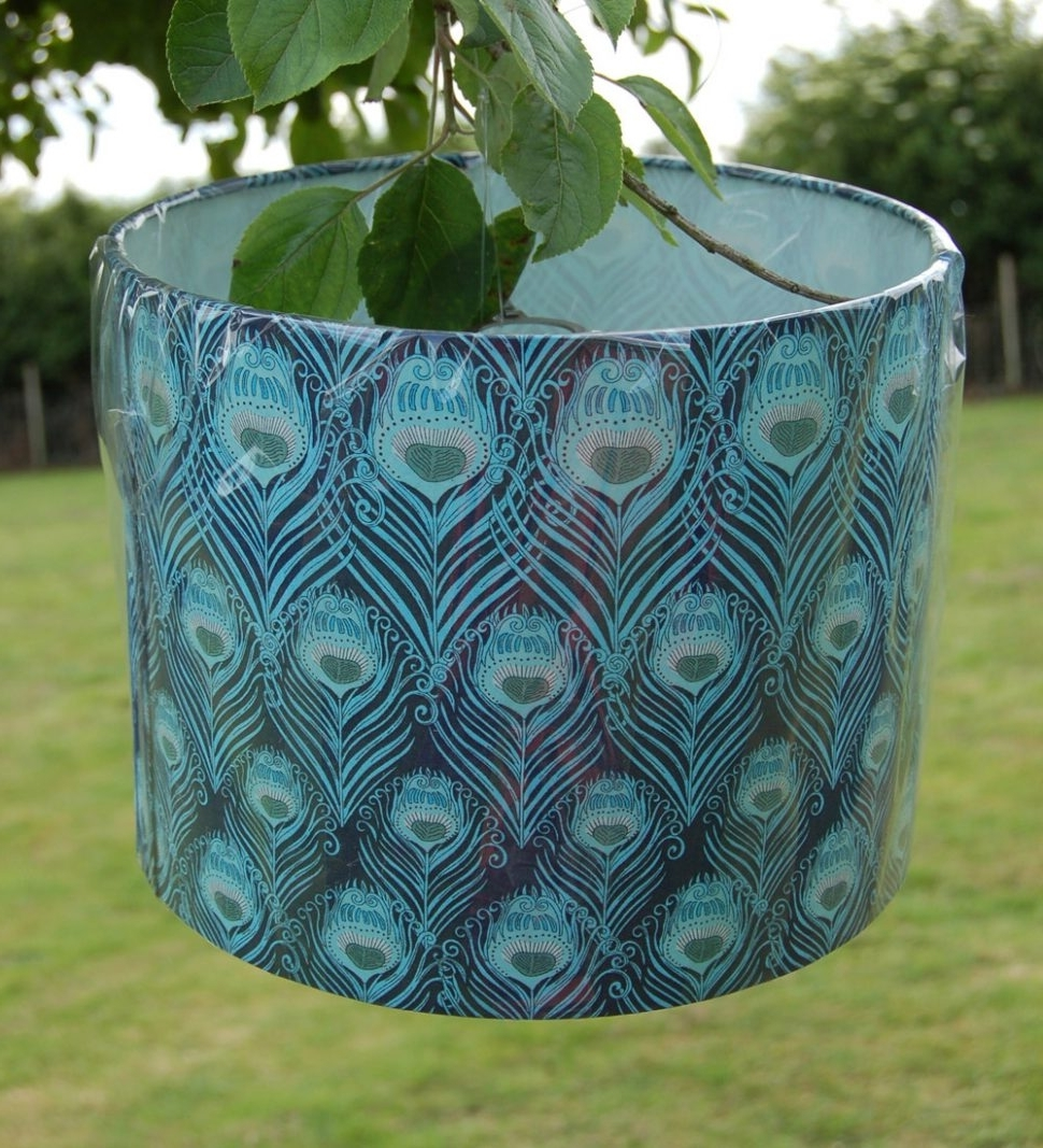 Turquoise Chandelier Lamp Shades Within Well Known Lighting : Turquoise Chandelier Lamp Shades Bedside Table Drum Blue (View 7 of 15)