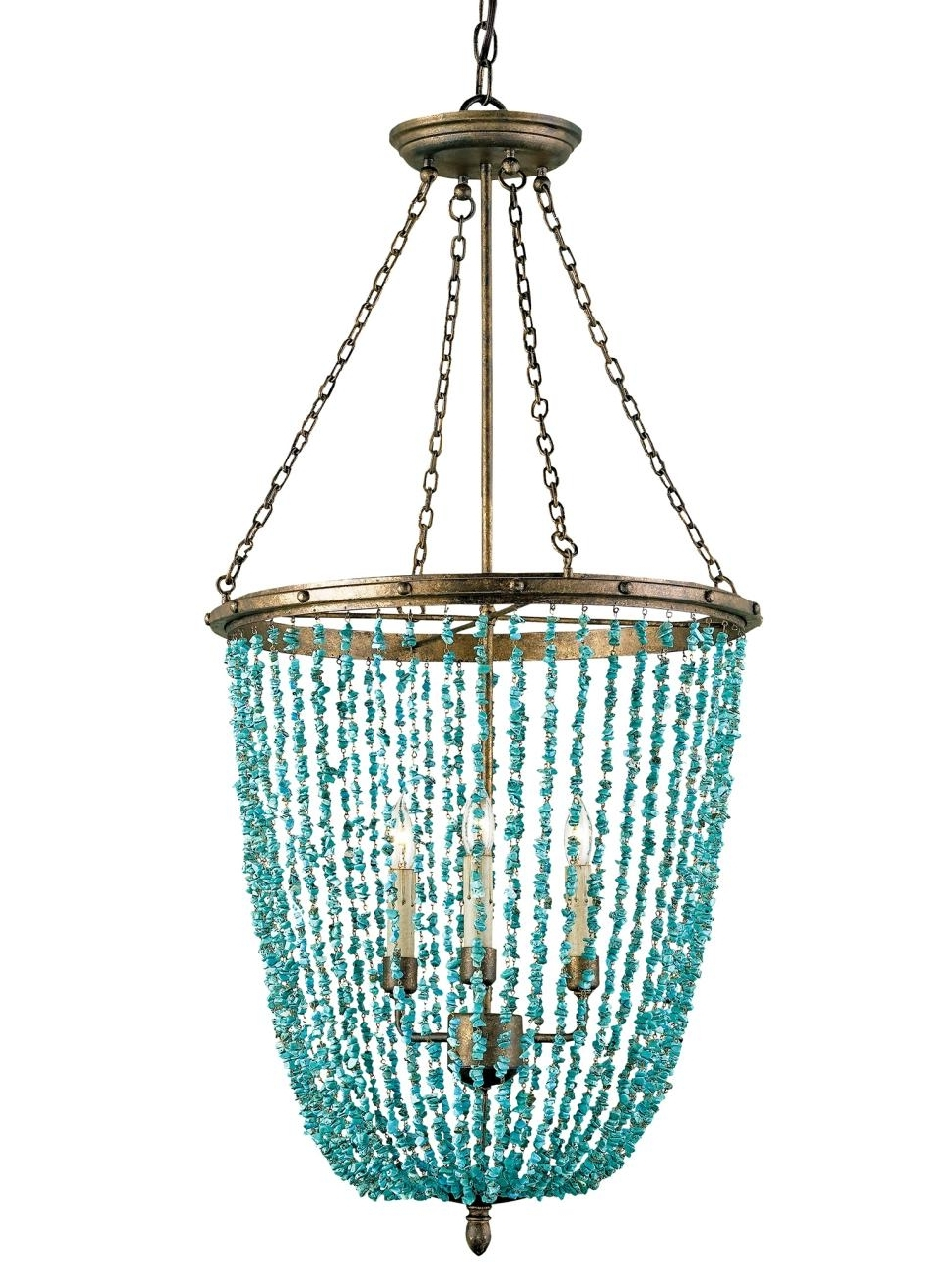 Turquoise Color Chandeliers Inside Most Up To Date Turquoise Chandelier (View 8 of 15)