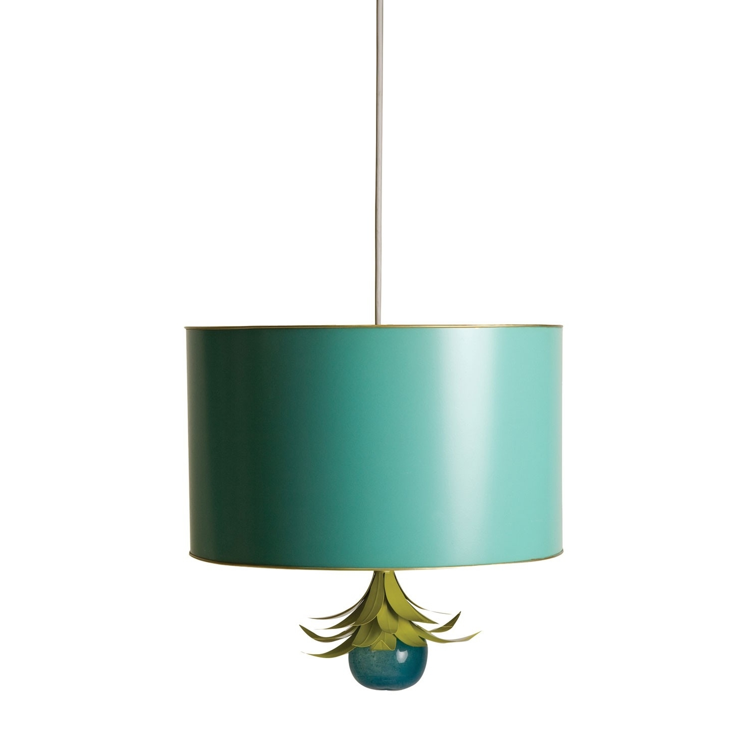 Turquoise Drum Chandeliers Intended For Favorite Drum Pendant – Stray Dog Designs (View 2 of 15)
