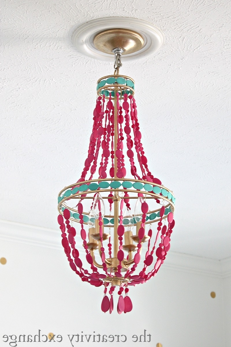Turquoise Empire Chandeliers With Fashionable Diy Painted Empire Chandelier (View 8 of 15)