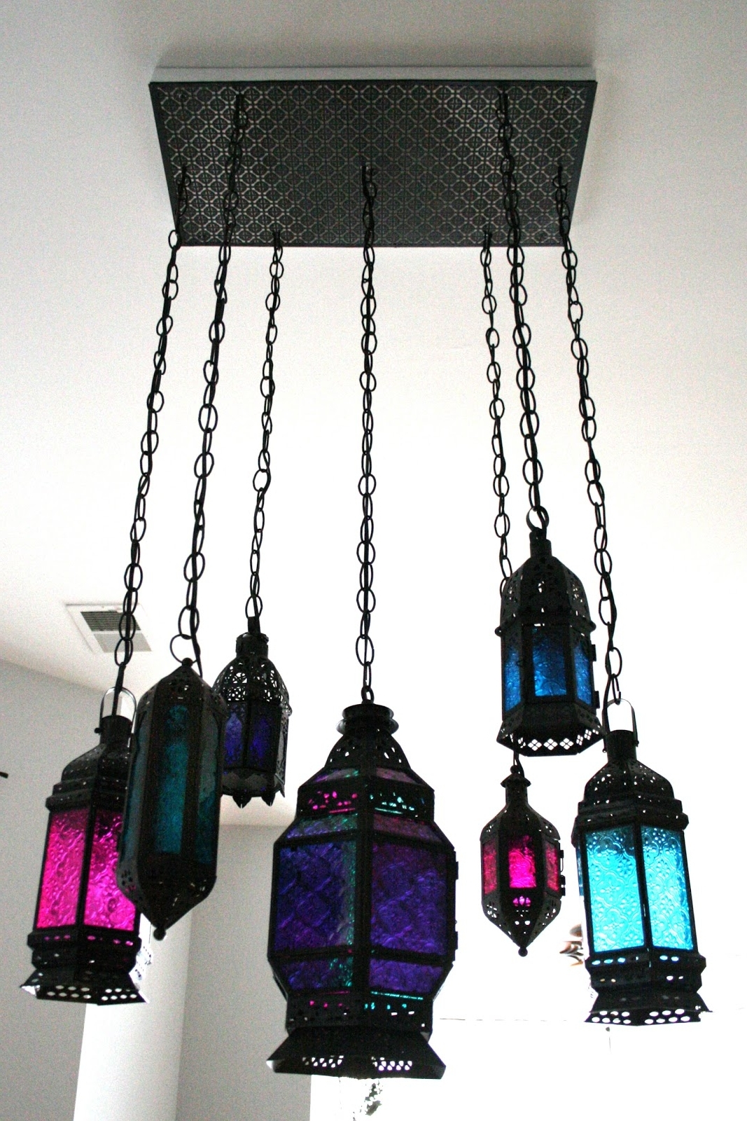 Turquoise Lantern Chandeliers Pertaining To Fashionable Indie Fashion And Beauty: Diy Moroccan Lantern Chandelier (View 14 of 15)