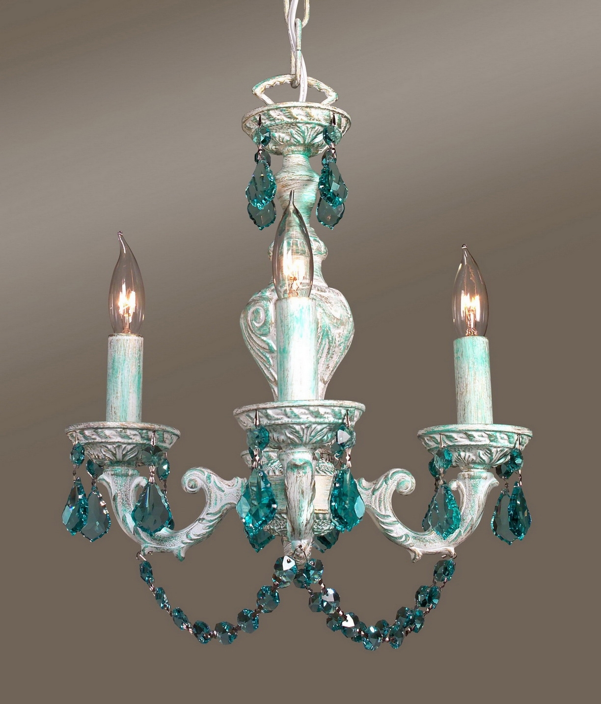Turquoise Mini Chandeliers Intended For Favorite Mini Chandeliers For Bedrooms Images (View 3 of 15)