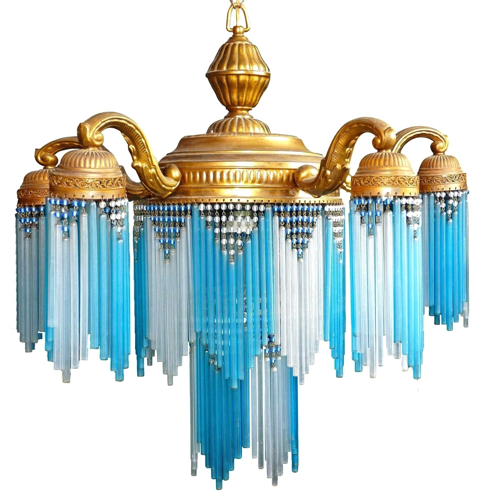 Turquoise Stone Chandelier Lighting With Trendy Turquoise Chandelier – Picevo (View 7 of 15)