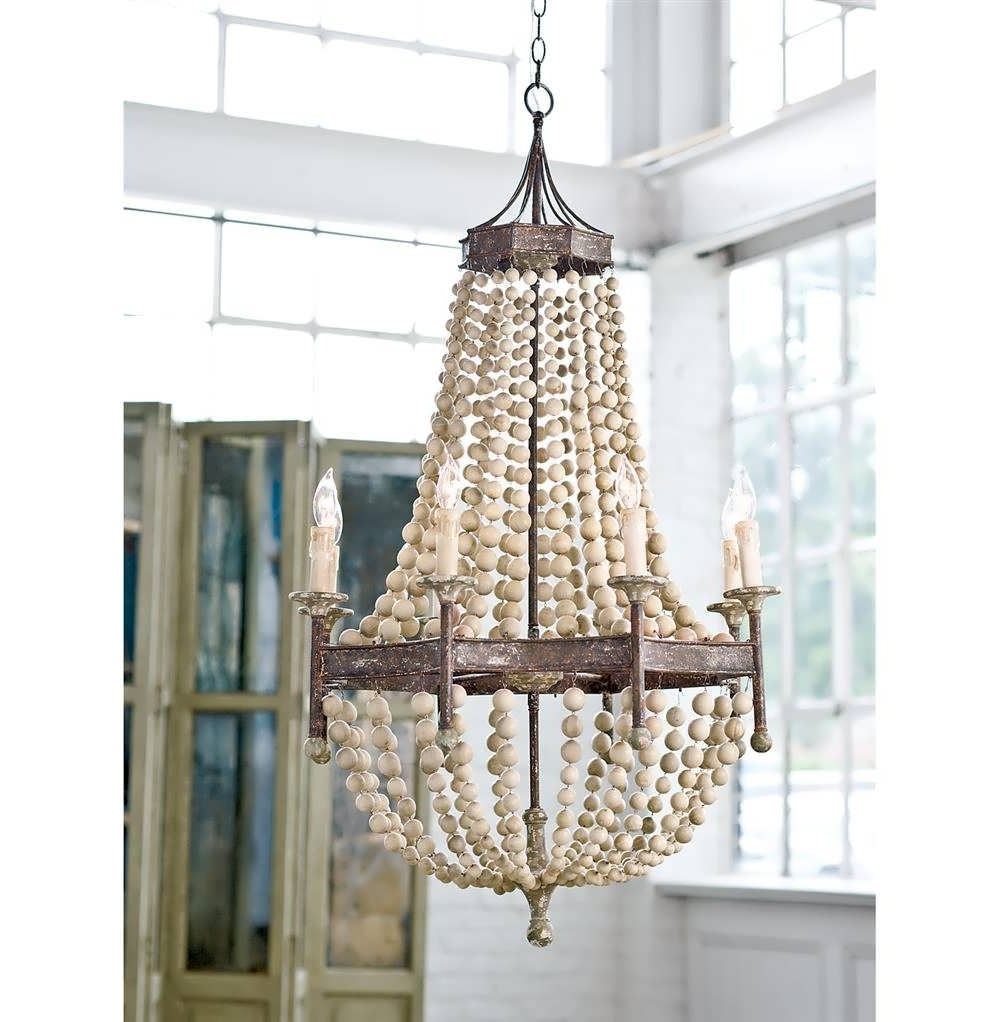 Turquoise Wood Bead Chandeliers In Current Chandelier : Wood Look Chandelier Wood Bead Ceiling Light Turquoise (View 15 of 15)