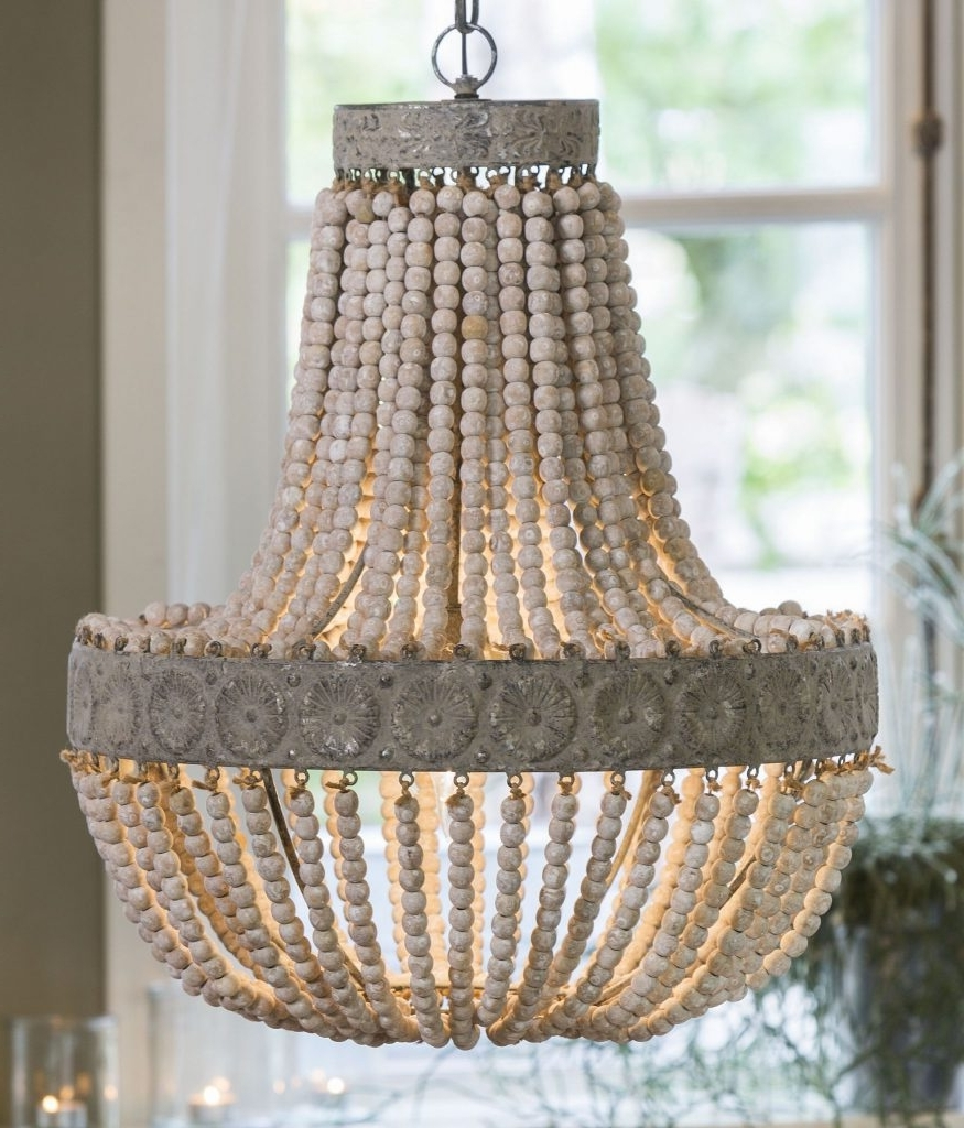 Turquoise Wood Bead Chandeliers In Newest Lighting : Redefine Contemporary Style With The Malibu Chandelier (View 2 of 15)