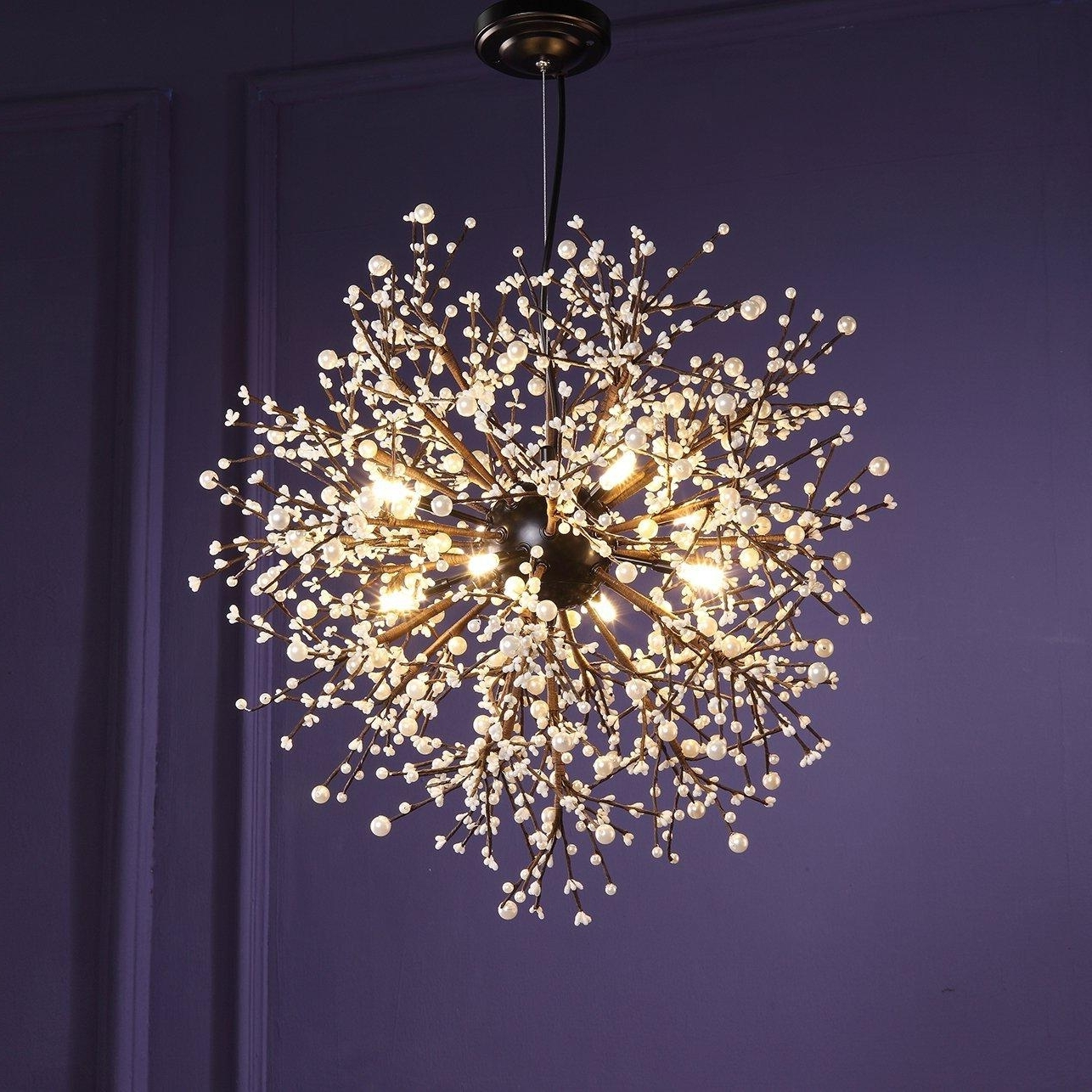 Ultra Modern Chandeliers Throughout Most Current Modern Chandeliers Firework Led Vintage Wrought Iron Chandelier (View 13 of 15)