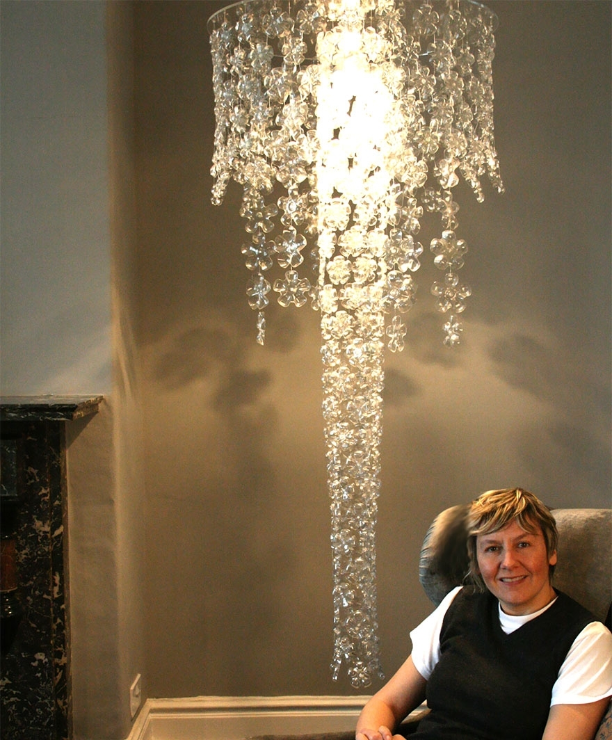 Unusual Chandeliers Regarding Well Known 21 Diy Lamps & Chandeliers You Can Create From Everyday Objects (View 11 of 15)