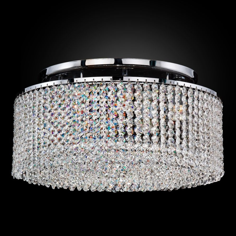 Urban Chic 596 – Glow® Lighting Throughout Fashionable Flush Chandelier Ceiling Lights (View 14 of 15)