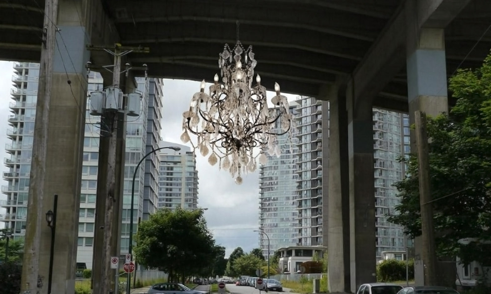 Vancouver Lights Up A Dark Highway Overpass With A Massive Within Current Massive Chandelier (View 13 of 15)