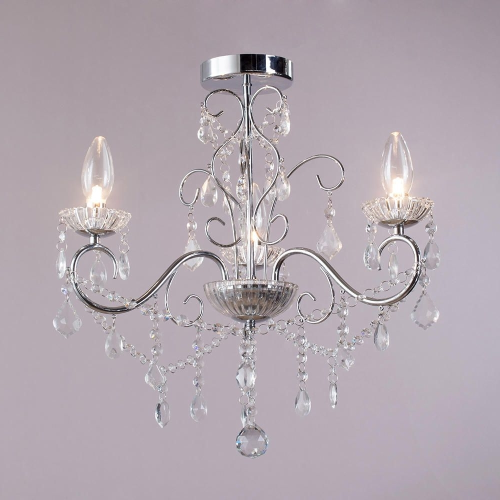 Vara 3 Light Bathroom Chandelier - Chrome From Litecraft in Most Popular Small Chrome Chandelier