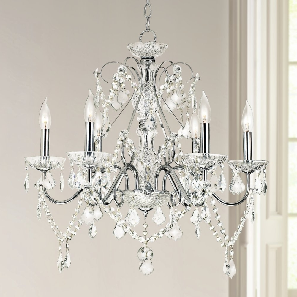 "Vienna Full Spectrum 23 1/2""w Chrome And Crystal Chandelier Pertaining To Fashionable Vienna Crystal Chandeliers (Gallery 4 of 15)"
