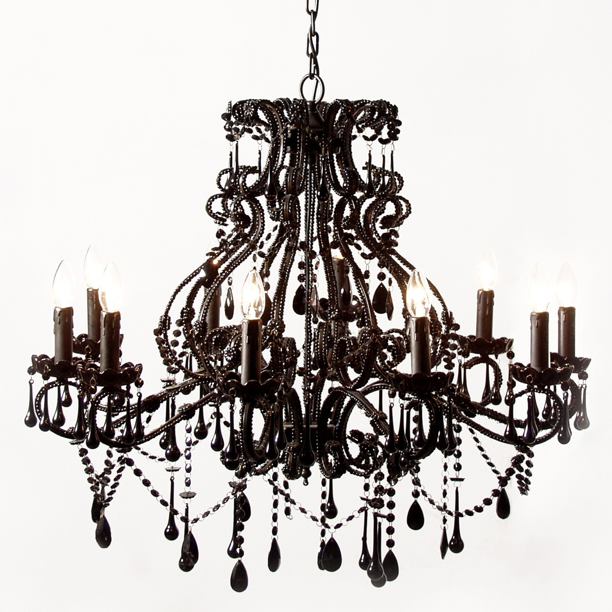 Vintage Black Chandelier For Well Known Vintage Black Chandelier For Bedroom Image 4 – Howiezine (View 4 of 15)