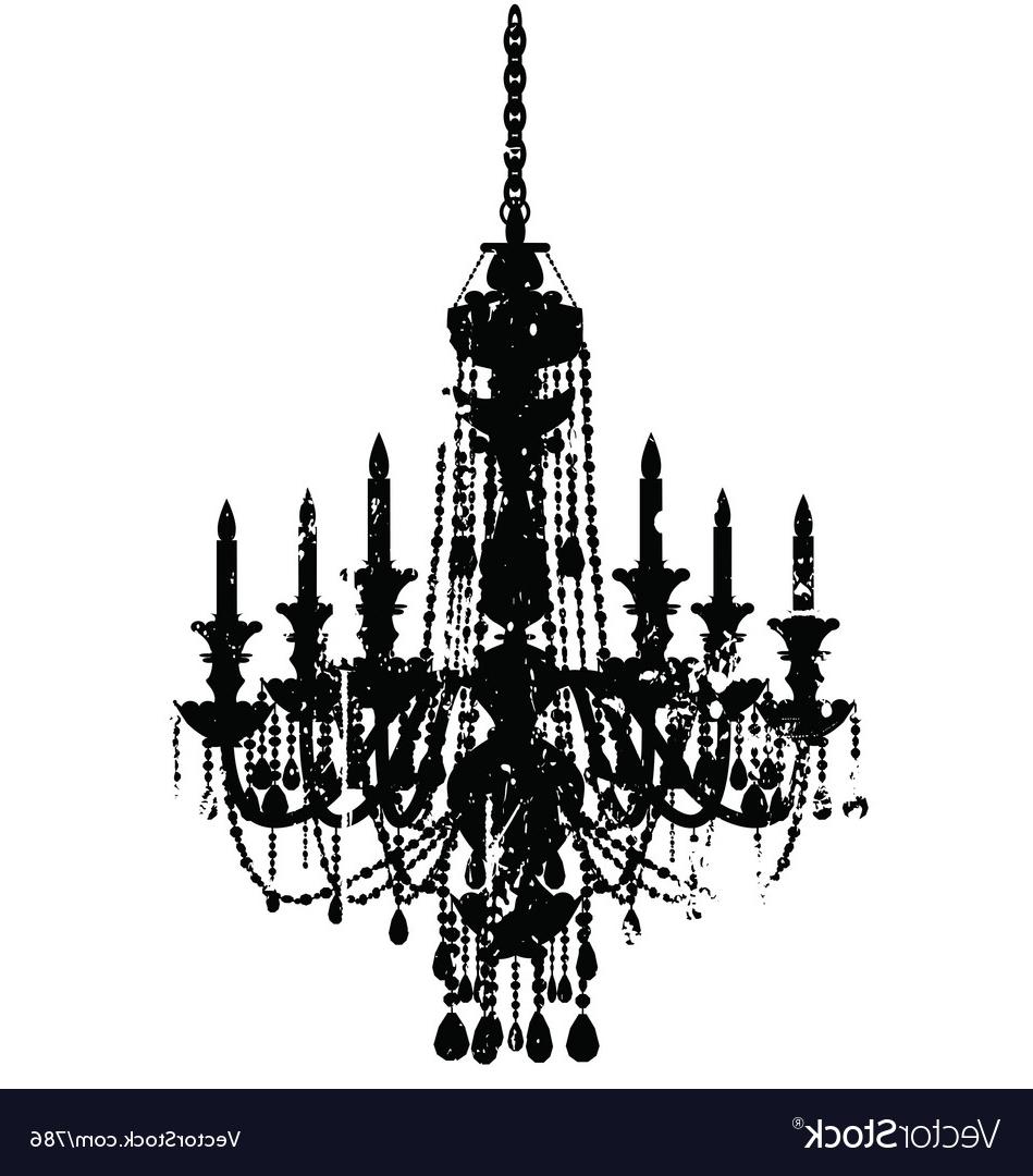 Vintage Chandelier Pertaining To Well Known Vintage Chandelier Royalty Free Vector Image – Vectorstock (View 9 of 15)