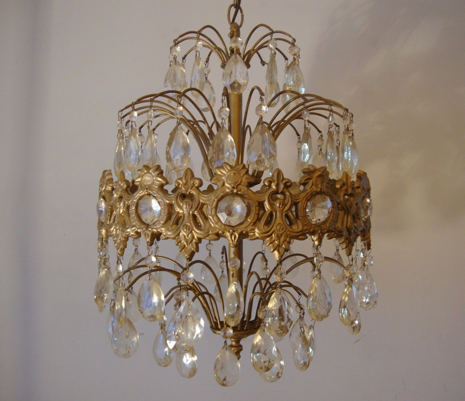 Vintage Crystal Prism Waterfall Chandelier - 6 Tier 6 Lights for Preferred Waterfall Chandeliers