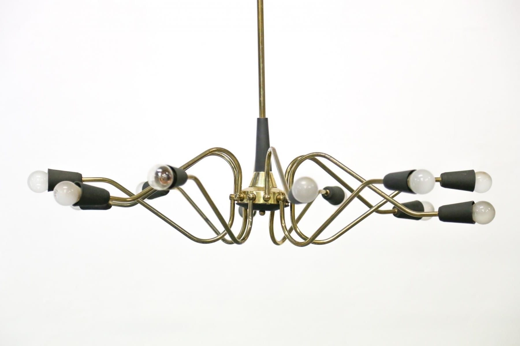 Vintage Italian Chandelier From Stilnovo For Sale At Pamono In Most Up To Date Vintage Italian Chandelier (View 11 of 15)