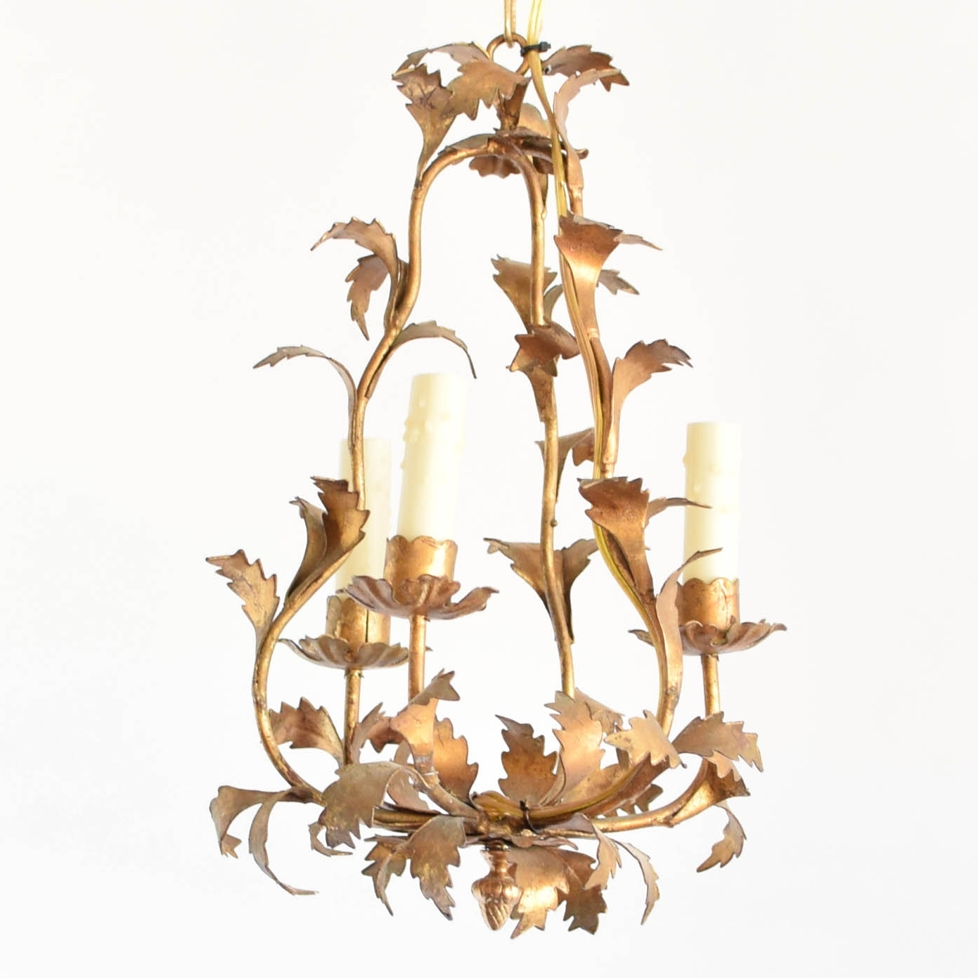 Vintage Italian Chandeliers In Widely Used Italian Gold Leaf Chandelier – The Big Chandelier (View 13 of 15)