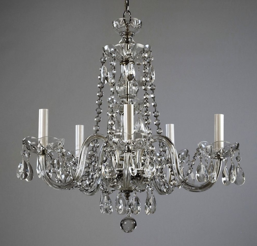 Vintage Style Chandelier for Most Recently Released Restored Waterford $499 Waterford Style Crystal Chandelier C1950
