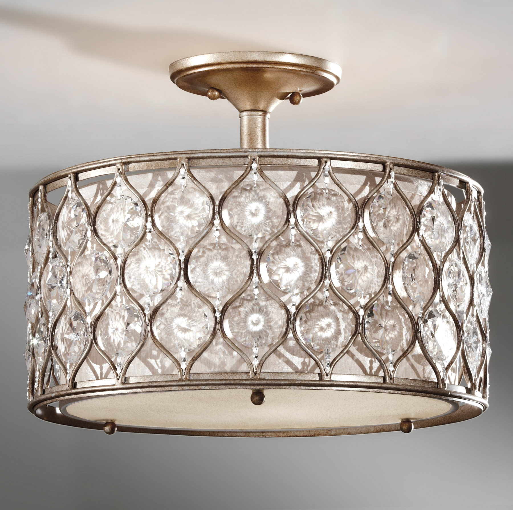 Wall Mount Crystal Chandeliers Pertaining To Famous Light Fixture : Crystal Rock Lights Lamps Plus Himalayan Salt Lamp (View 10 of 15)