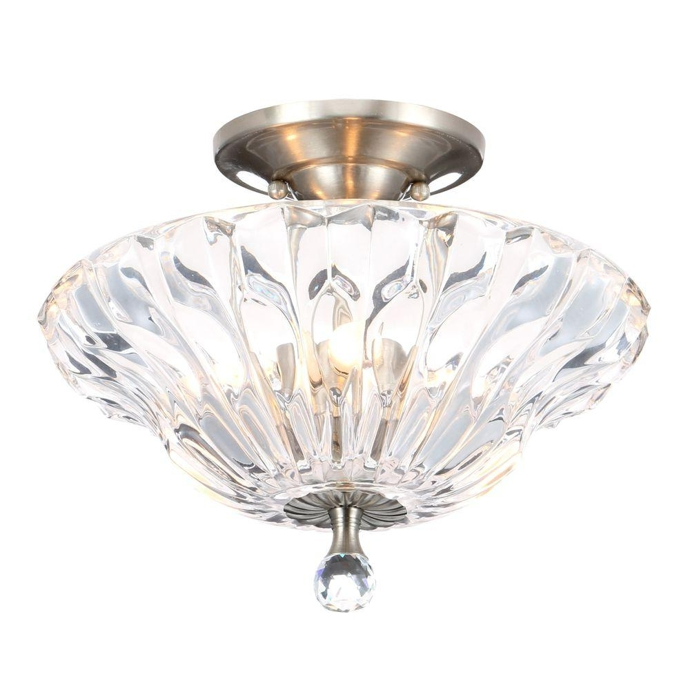 Wall Mount Crystal Chandeliers With Regard To Preferred Dale Tiffany – Semi Flushmount Lights – Lighting – The Home Depot (View 14 of 15)