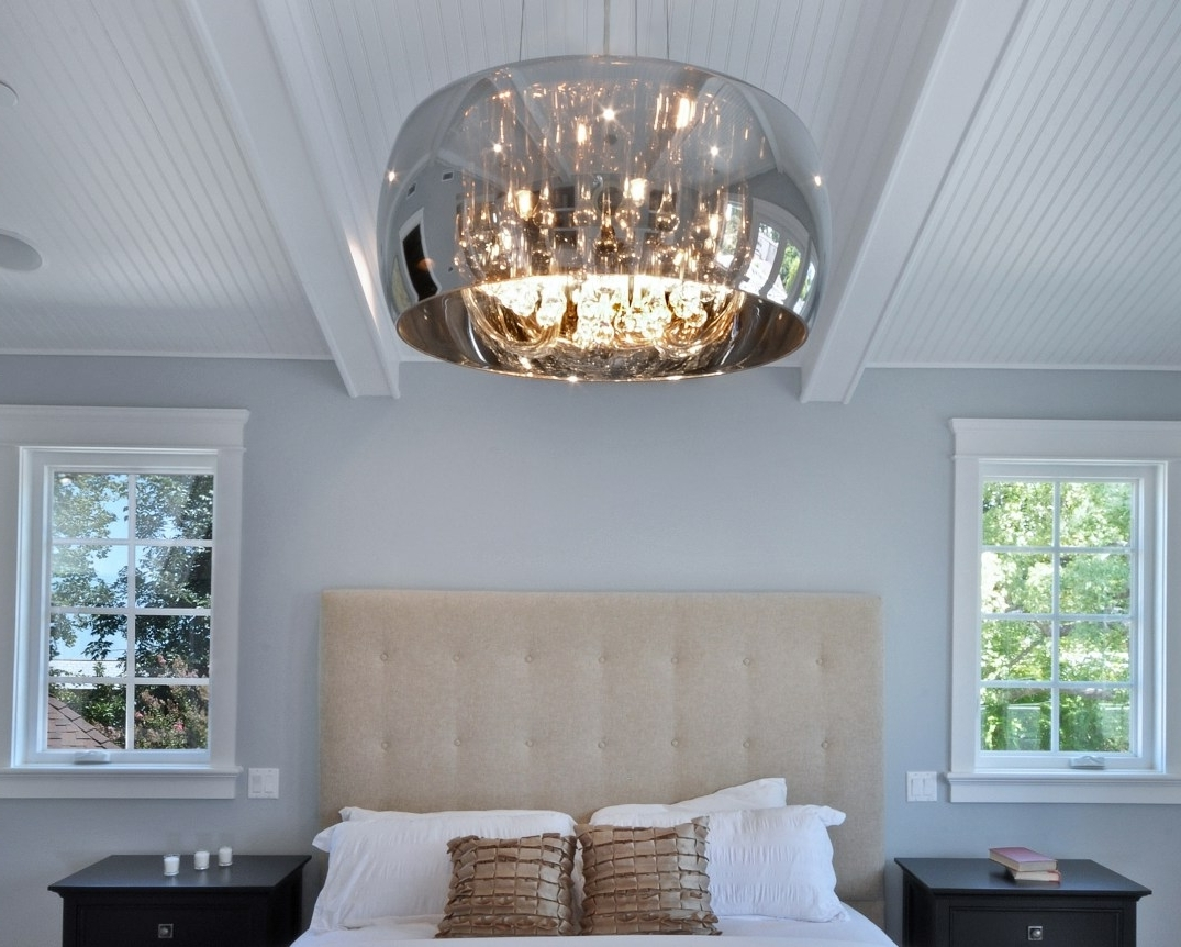 Wall Mounted Chandelier Lighting Pertaining To Newest Light : Led Surface Mount Ceiling Lights Crystal Flush Light Wall (View 5 of 15)