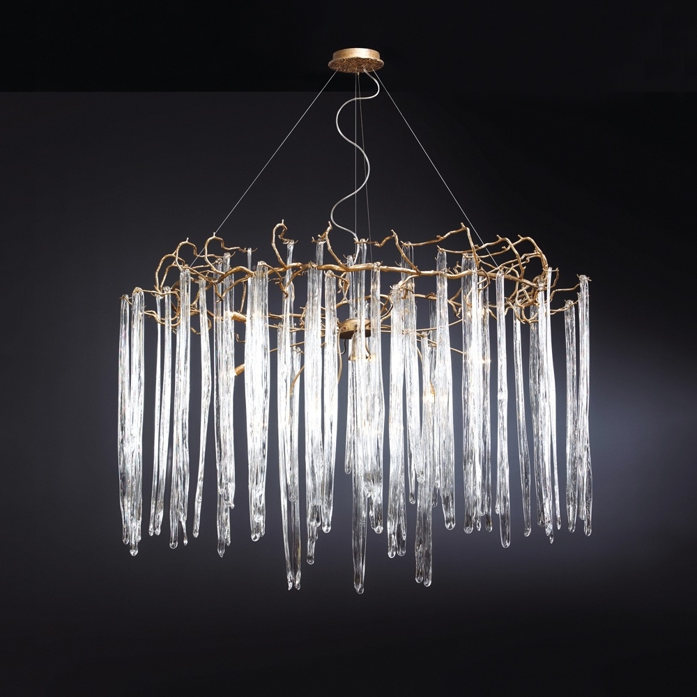 Waterfall Chandeliers Pertaining To 2017 Waterfall Chandelier – Round (View 9 of 15)