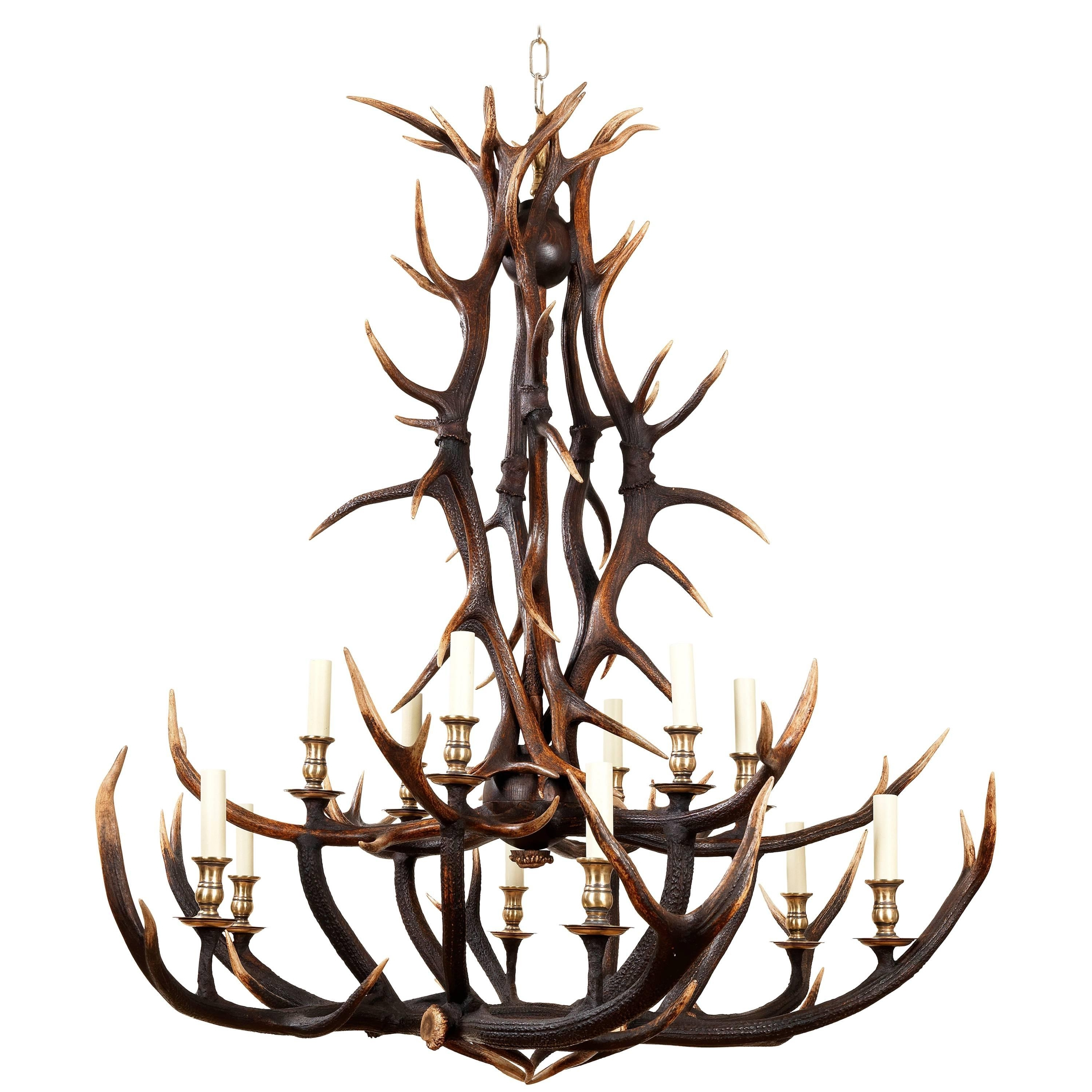 Well Known Anthony Redmile Scottish Red Deer Antler Or Stag Horn Chandelier For For Stag Horn Chandelier (View 15 of 15)