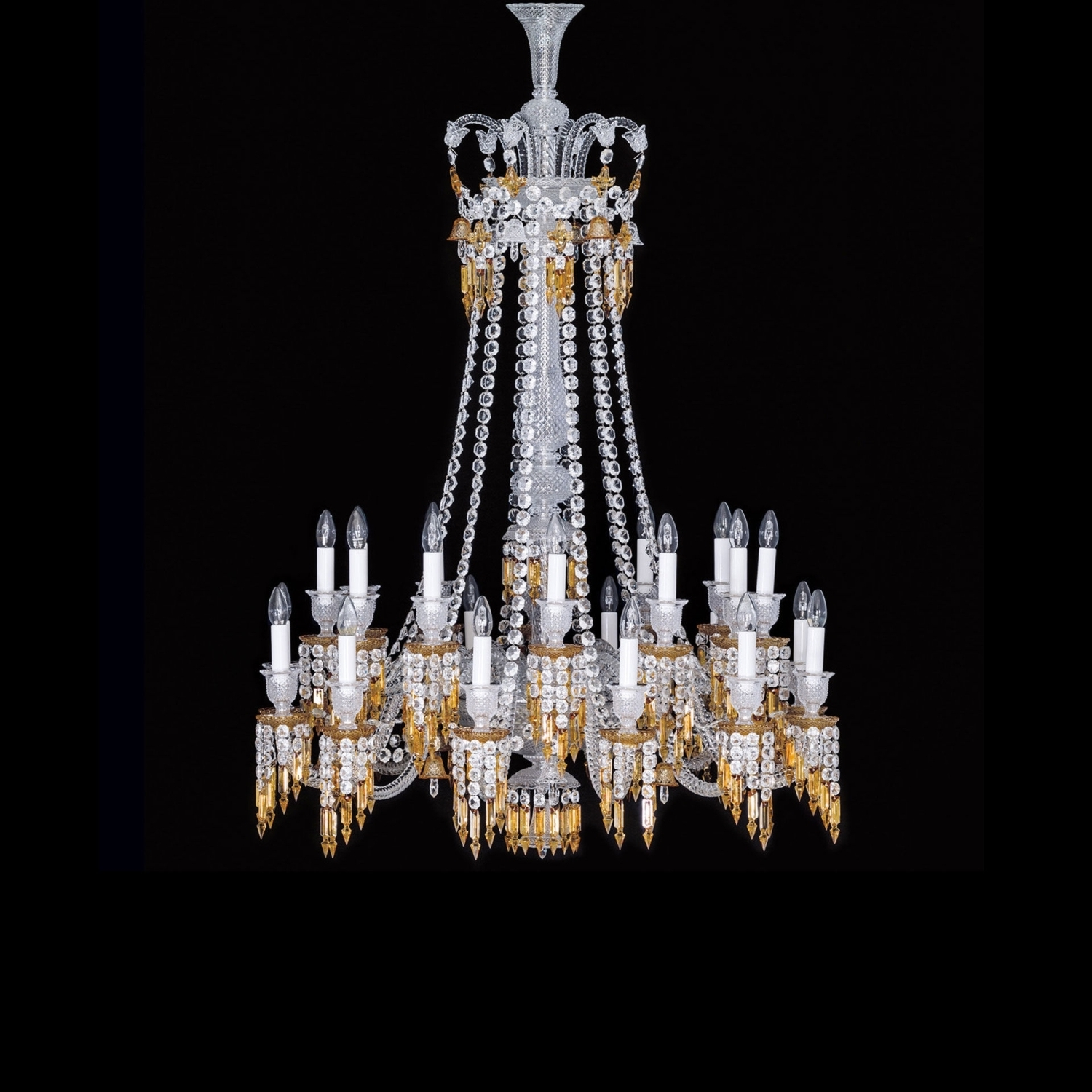 Well Known Chandelier 24L Baccarat Zenith Charleston 2809432 For Long Chandelier Lights (View 12 of 15)