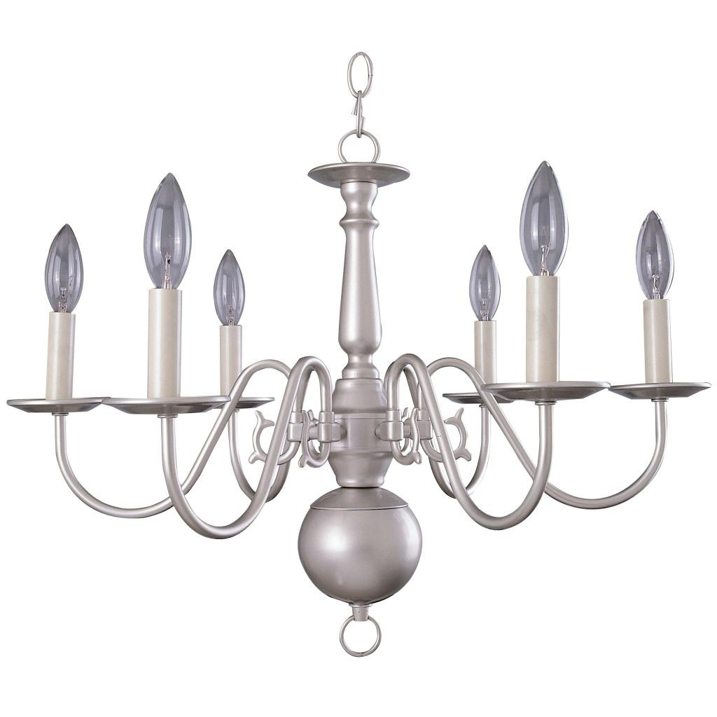 Well Known Chandelier: Outstanding Williamsburg Chandeliers Early American Throughout Silver Chandeliers (View 4 of 15)