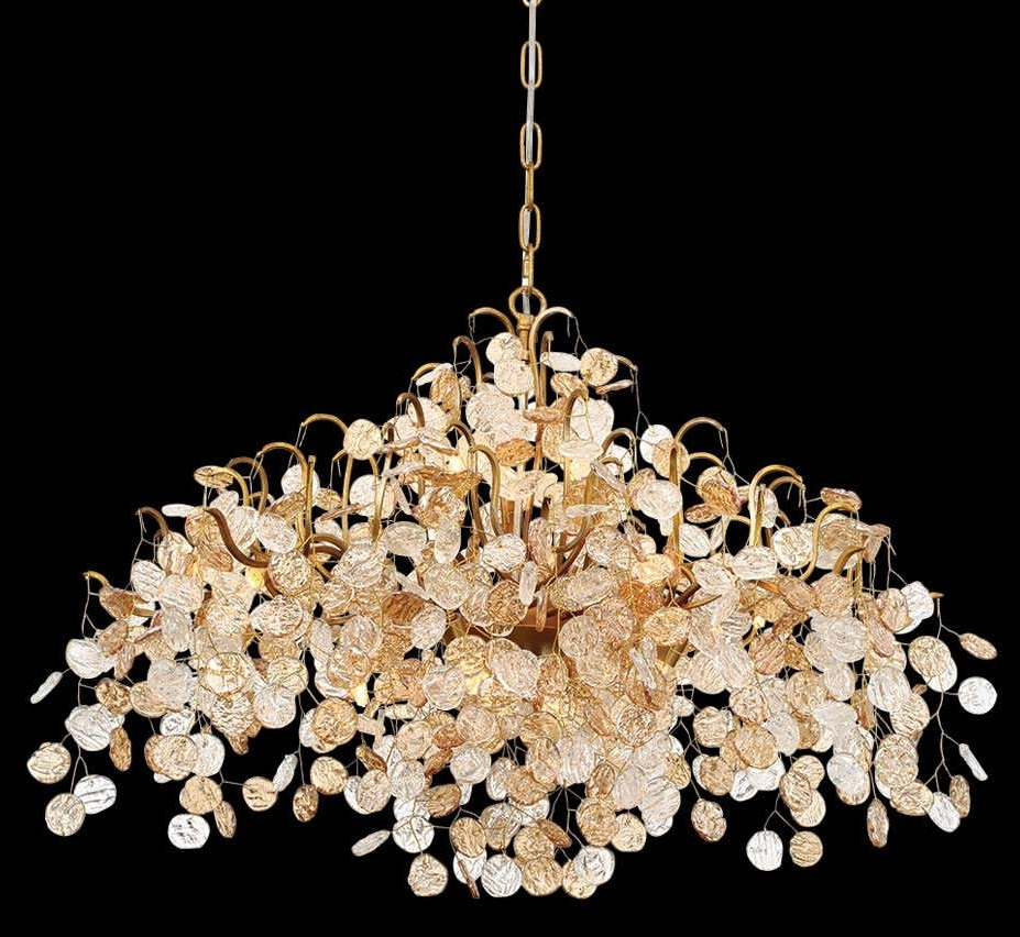Well Known Chandeliers Design : Amazing Glass Chandelier Modern Lighting With Large Glass Chandelier (View 13 of 15)