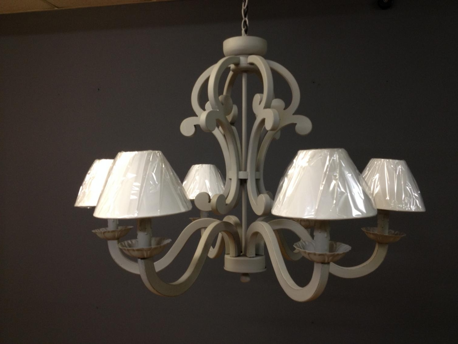 Well Known Distressed Wooden Grey Chandelier In Chandeliers Pertaining To Grey Chandeliers (View 13 of 15)