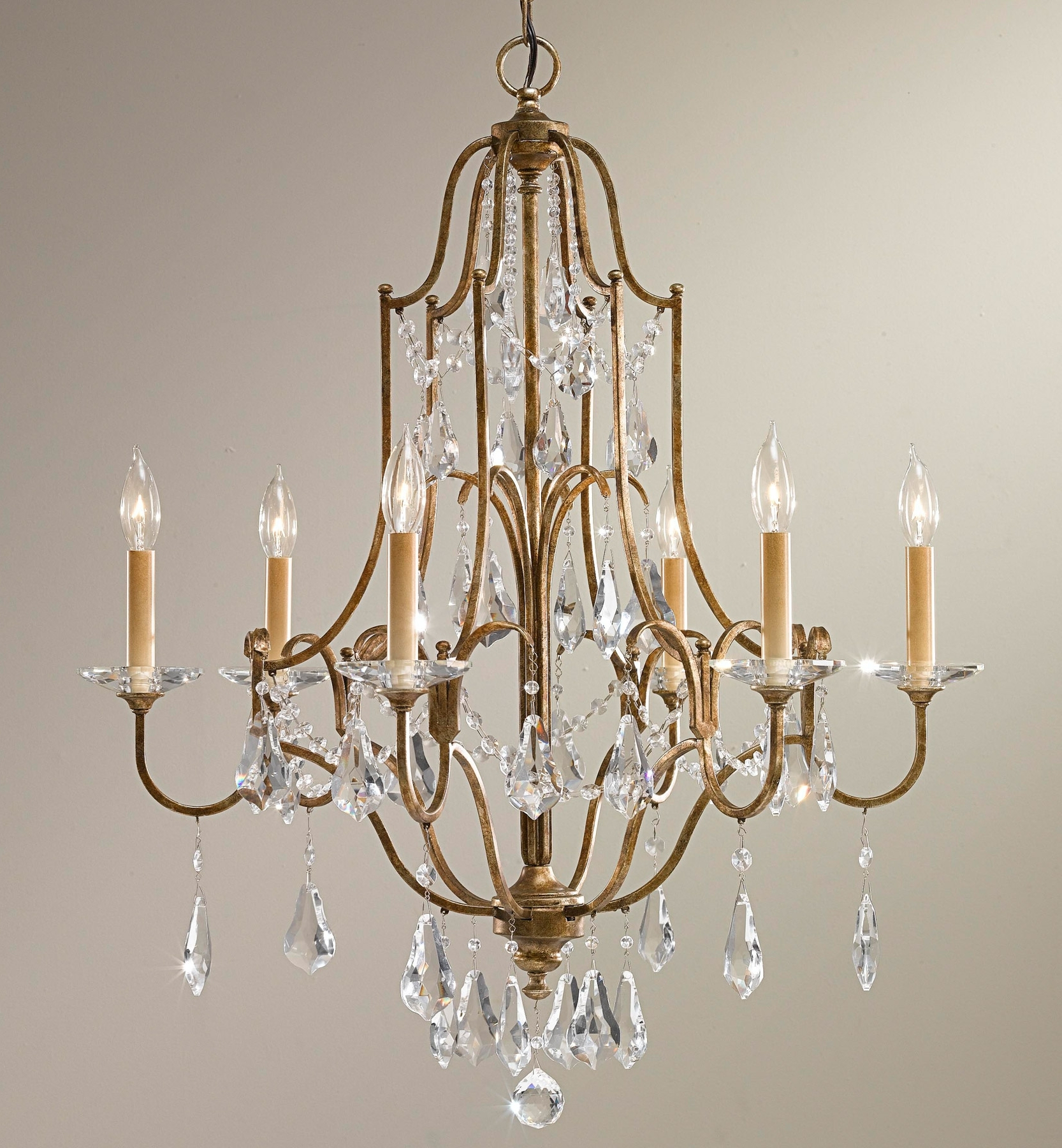 Well Known Feiss F2478/6Obz Crystal Valentina Six Light Chandelier For Feiss Chandeliers (View 6 of 15)