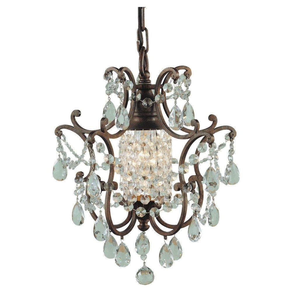 Well Known Feiss Maison De Ville 1 Light British Bronze Mini Chandelier F1879 With Regard To Small Bronze Chandelier (View 6 of 15)