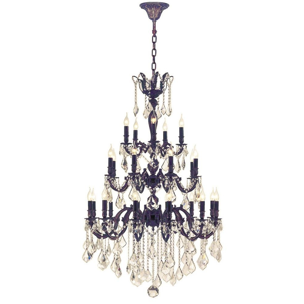 Well Known Flemish Brass Chandeliers For Worldwide Lighting Versailles 25 Light Flemish Brass Chandelier With (View 11 of 15)